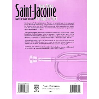 Saint- Jacome Grand method for trumpet or cornet CF-O457