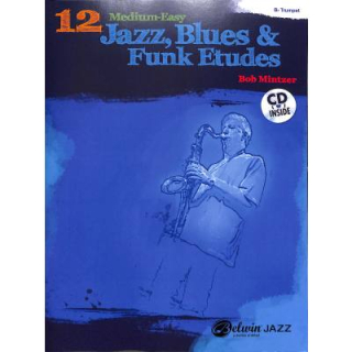 Mintzer 12 medium easy Jazz Blues & Funk Etudes Trompete CD ALF37020