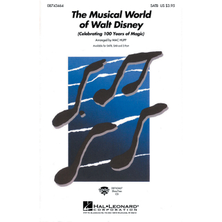 Huff The musical world of Walt Disney Medley SATB HL08743464
