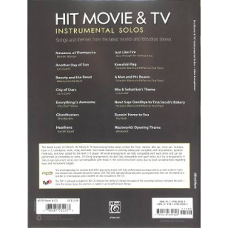 Hit movie & TV Instrumental Solos Alto Sax CD ALF46759