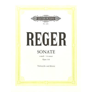 Reger Sonate a-moll op 116 Cello Klavier EP3283