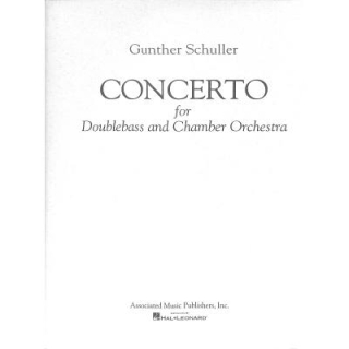 Schuller Concerto Double Bass Piano GS22678