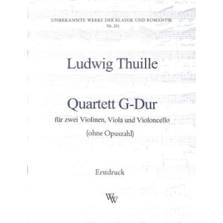 Thuille Quartett G-Dur 2 VL VA Cello WW211