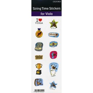String Time Stickers Viola