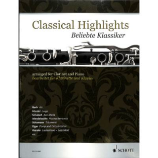Classical Highlights Klarinette Klavier ED21585