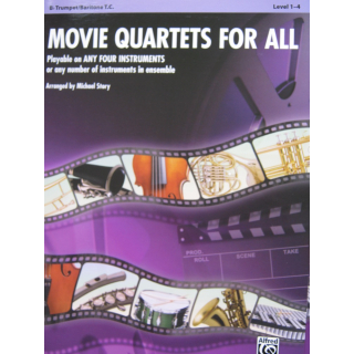 Movie Quartets for all by Michael Story für Trompete